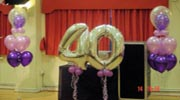 40th Foil Balloons